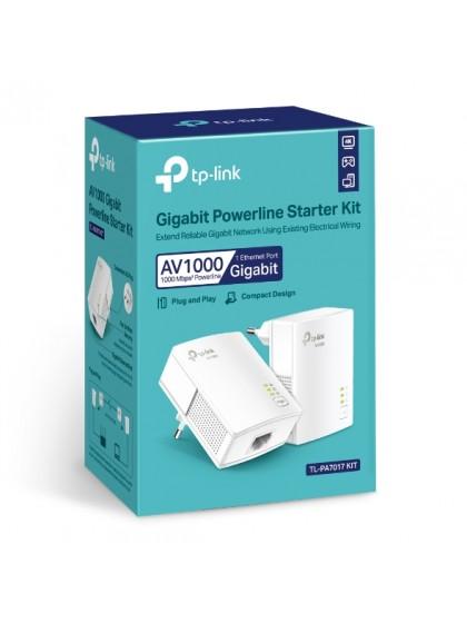 TP LINK TL PA7017 GIGABIT POWERLINE STARTER KIT AV1000