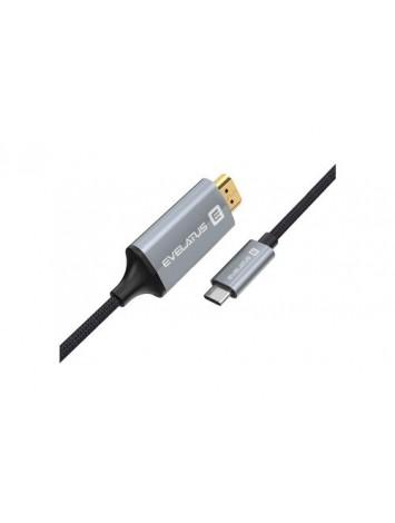 EVELATUS DATA CABLE HDMI TYPE C TPC04 BLACK